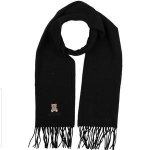 Moschino bear print wool scarf nwt